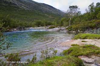 Photo: The river Jore in the valley Skamsdalen