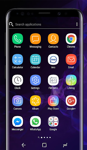 Galaxy S9 purple | Xperia™ Theme Premium 이미지[2]