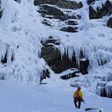 Fotos das fervenzas de xeo de Trevinca, non val de Cuadro, dende La Baña (León), 19 de febreiro de 2017.
