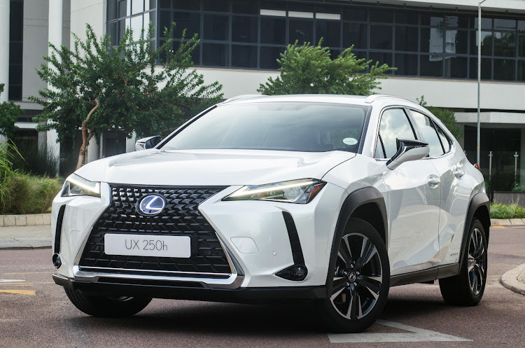 The new Lexus UX250h EX is the second hybrid model in the crossover range.