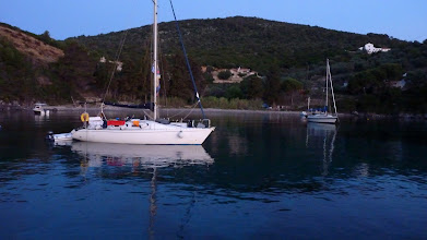 Photo: Agios Petrus beach near Steni Vala before sunrise