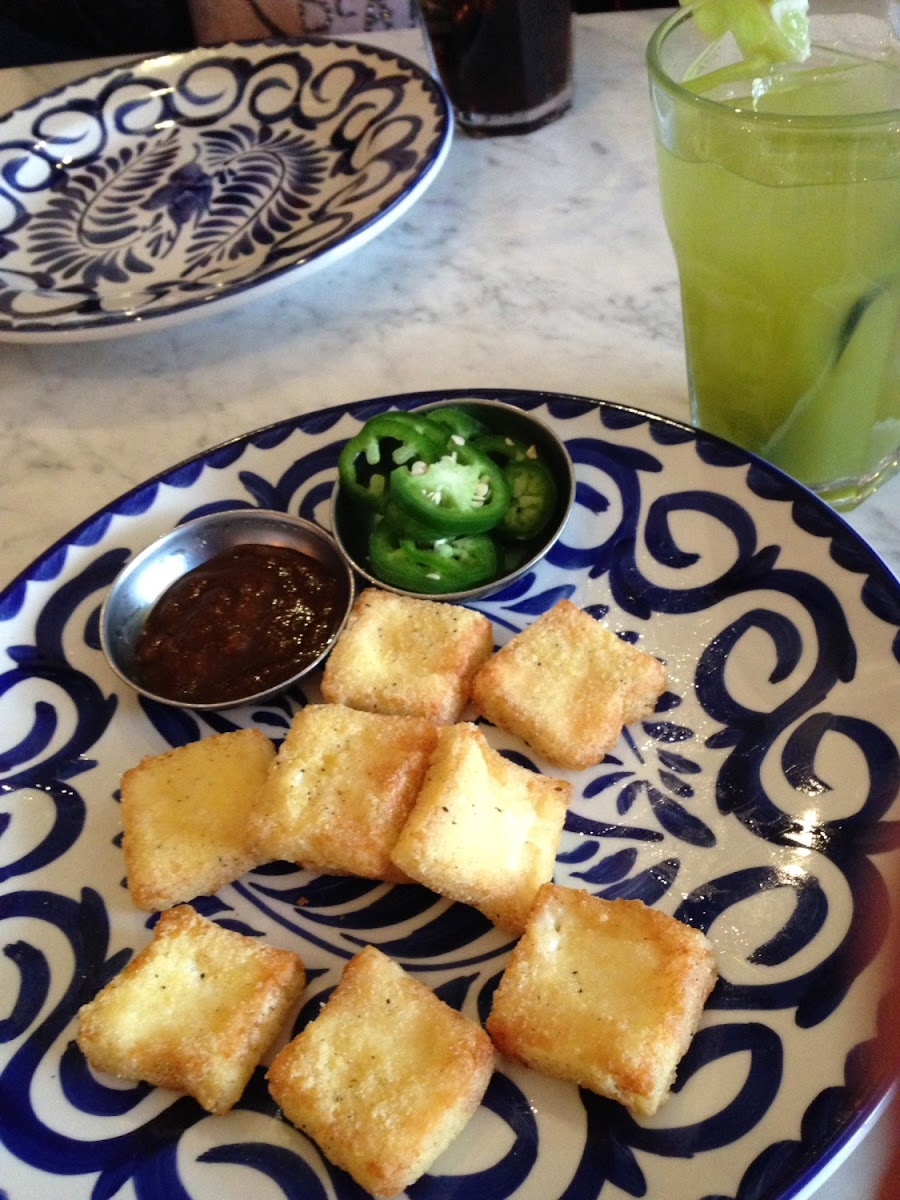 Panella Poppers and my Basil Mojito.