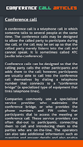 Conference Call Articles 3