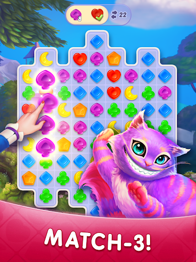 WonderMatchu2122uff0dMatch-3 Puzzle Alice's Adventure 2020 2.2 screenshots 9