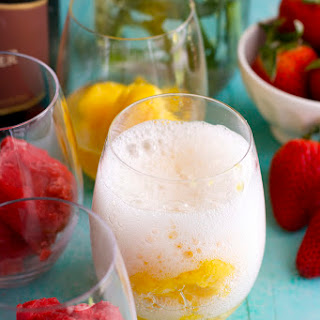 Sorbet and Sparkling Wine
