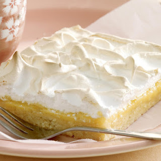Lemon Meringue Bars.