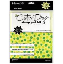 Inkssentials Cut-N-Dry Stamp Pad Felt 8x10 sheet 55
