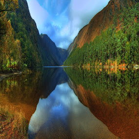 glendalough by Paul Holmes - Landscapes Waterscapes