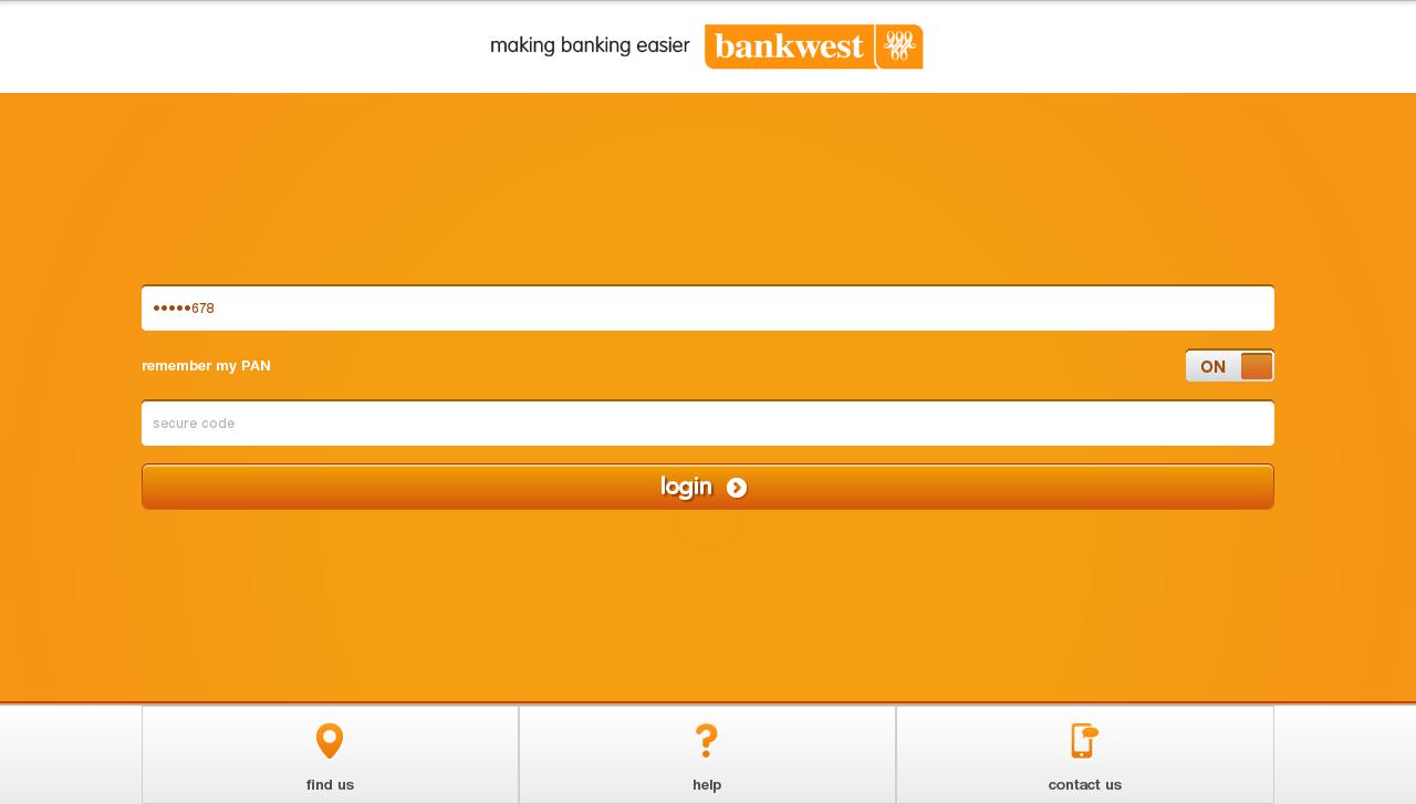 Bankwest- screenshot