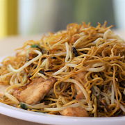 Shredded Chicken & Bean Sprouts Chow Mein