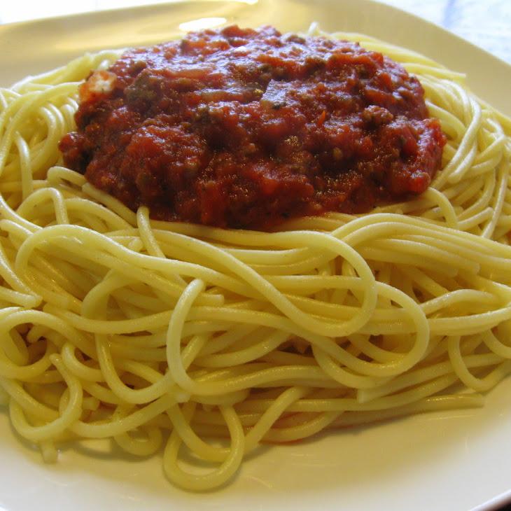 Homemade Venison Spaghetti Sauce