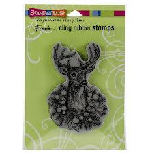 Stampendous Cling Stamp - Adorned Deer