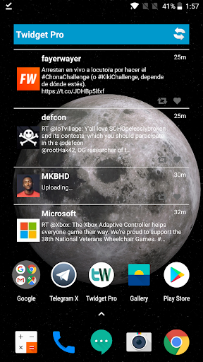 Screenshot for Twidget Pro for Twitter in Hong Kong Play Store