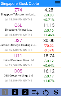 SGX Stock Quotes - Singapore - náhled