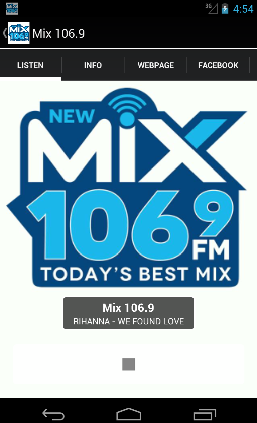 Mix 106.9- screenshot