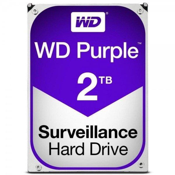Жесткий диск внутренний WDC HDD SATA 2TB 6GB/S 64MB/PURPLE (WD20PURZ)
