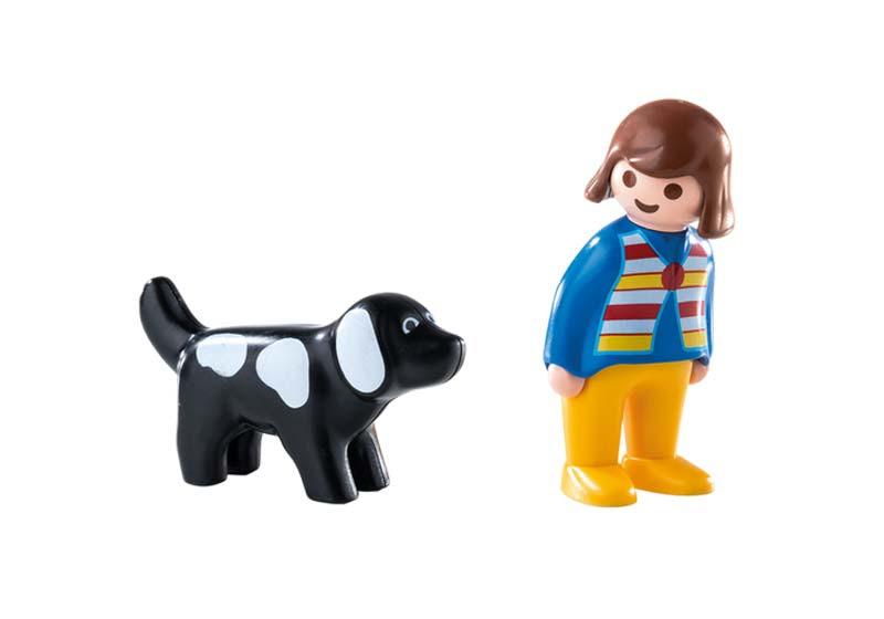 Contenido real de Playmobil® 6977 Mujer con Perro