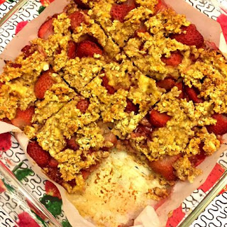 Strawberry Banana Oatmeal Bars.