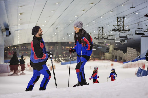 Feel like hitting the slopes? There's indoor skiing year round in Dubai.