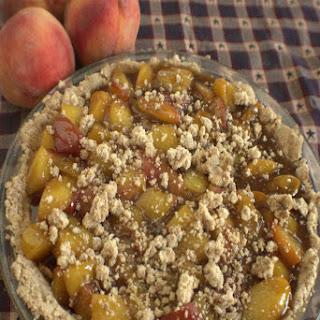 Coconut Almond Peach Pie