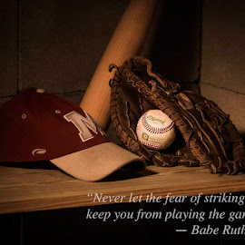 Baseball quote by Cory Seward - Typography Quotes & Sentences ( baberuth, baseball, quote, sports, photography )