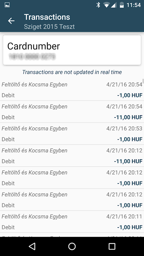 Festipay- screenshot