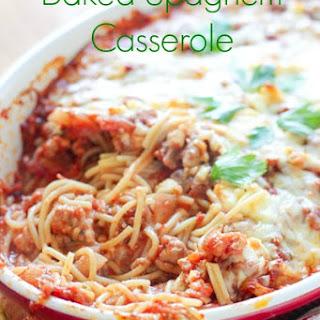 Baked Spaghetti Casserole Recipe