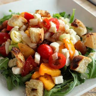 Panzanella Heirloom Tomato Salad with Citrus Fennel Pollen