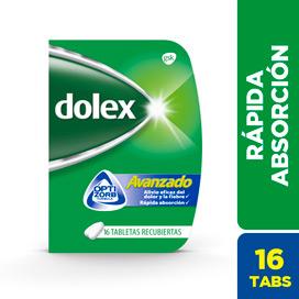 DOLEX Avanzado 500mg   Tabletas Caja x16Tab. GSK Acetaminofén