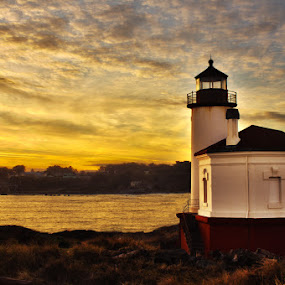 Illumination by Rachelle Crockett - Buildings & Architecture Other Exteriors ( clouds, lighthouse, watchtower, weather, sunrise, beacon )