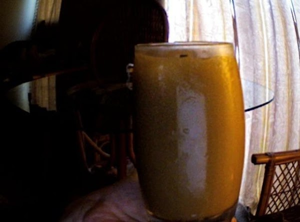 PLACE coffee, milk, coffee-mate and ice in blender; cover. Blend until smooth.  Optional: (For...