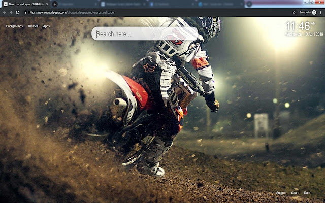 Motocross wallpapers & New tabs