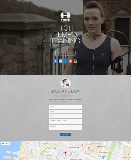Build a Personal trainer Website