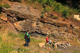 Photo: A terepen megtisztelt minket Havasi Ildikó, a Duna-Dráva Nemzeti Park Igazgatóság geológiai referense is