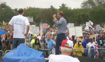 Photo: Matt Kibbe of FreedomWorks address the Tea Party Crowd in Washington, DC on September 12, 2010.