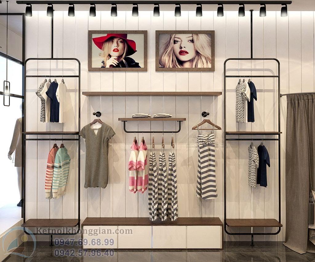 thiết kế shop thời trang nữ thanh thịch, nhẹ nhàng