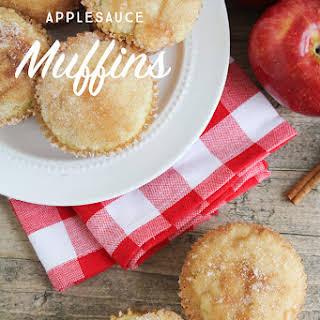 Easy Applesauce Muffins.