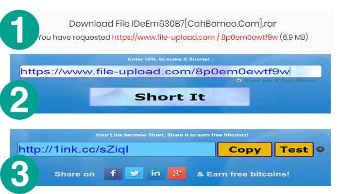 Hanya Share link dibayar bitcoin gratis terbukti membayar