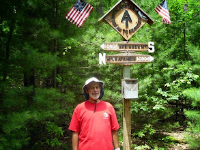 Photo: At one of (!) the 2014 Appalachian Trail halfway point signs, in Pennsylvania.
