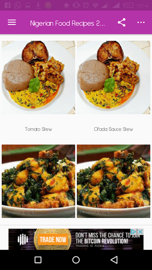 Nigerian food recipes 2018 android apps on google play nigerian food recipes 2018 screenshot forumfinder Gallery