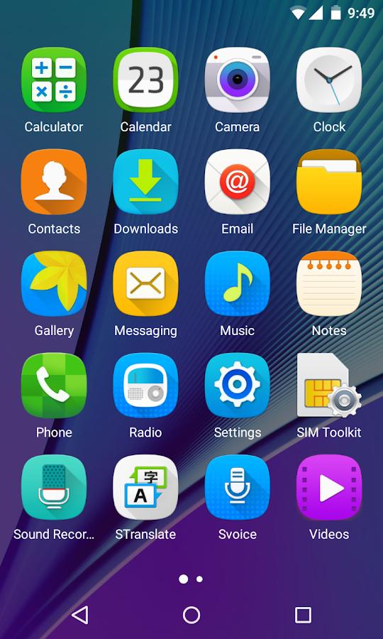 N icon on samsung galaxy s6