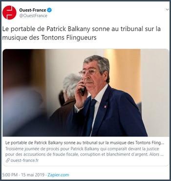 Ouest-France le portable de Patrick Balkany sonne au tribunal sur la musique des Tontons flingueurs