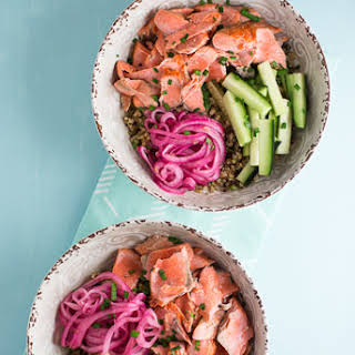 Salmon with Ginger Quinoa.