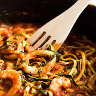 Seafood Zucchini Marinara.
