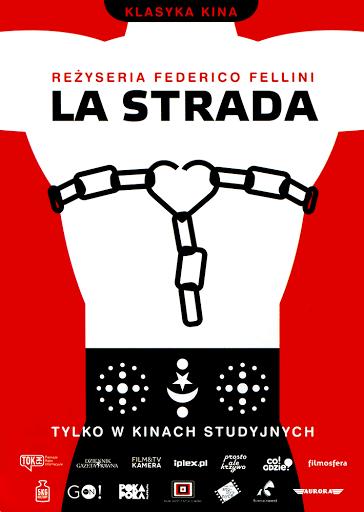 Przód ulotki filmu 'La Strada'