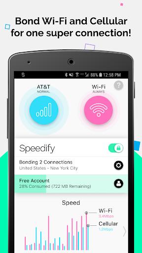 Speedify - Bonding VPN 7.2.2.6789 screenshots 1