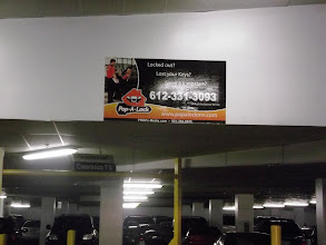 Photo: Our new signs in the Block E parking garage