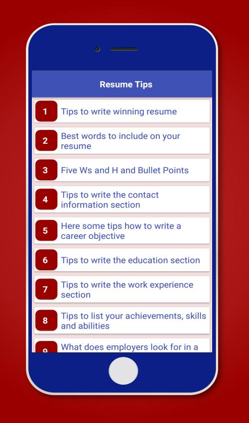 resume interview tips jobs screenshot - Resume Tips