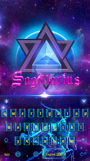 Sagittarius Keyboard Colors