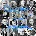 Quotes for greatness icon